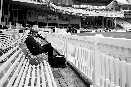 Cricket fan asleep