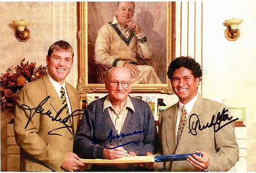 Bradman, Tendulkar and Warne