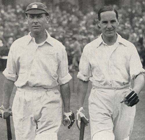 Jack Hobbs and Herbert Sutcliffe - the immortal opening partnership