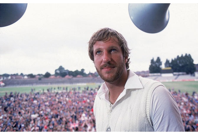 Ian Botham at the scene of his greatest triumph - Headingley 1981