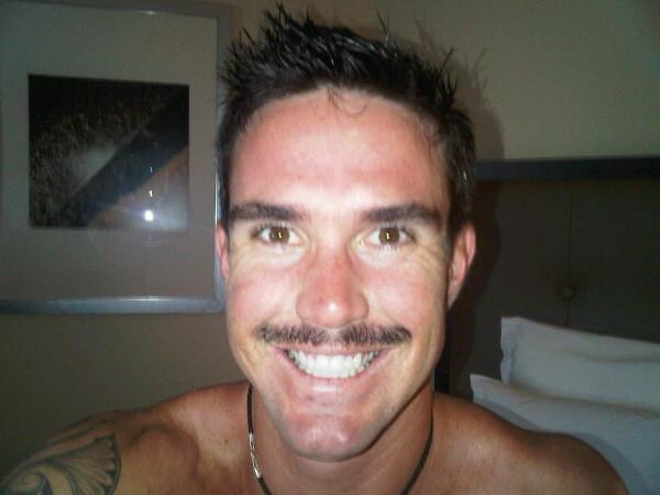 KP's dodgy moustache