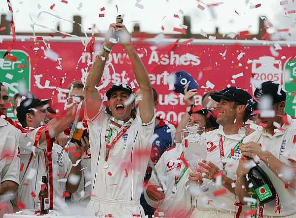 England win the 2005 Ashes