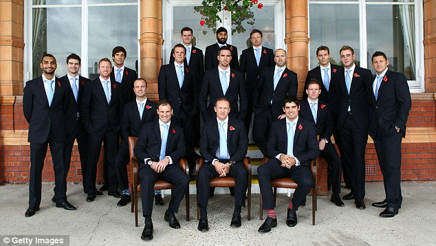Dressed to kill - England's 2010-11 Ashes squad  at Lord's pre-departure for Australia