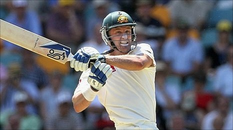 Michael Hussey saves his career with a beligerent knock at The Gabba
