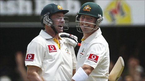 Mike Hussey and Brad Haddin - breaking records and English hearts at the Gabba