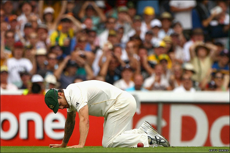 Mitchell Johnson - a zero at The Gabba after his spilled catch of Strauss