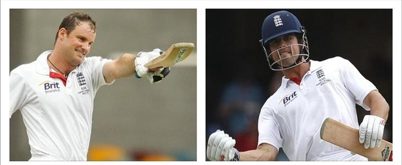 Andrew Strauss and Alastair Cook - England's centurion heroes on Day Four at The Gabba