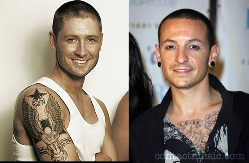 Separated at birth - Michael Clarke and Linkin Park's Chester Bennington
