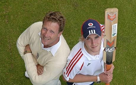 Chris Broad - injured son Stuart will have to wait until 2014-15 to emulate the lofty feats of his father in the 1986-87 series