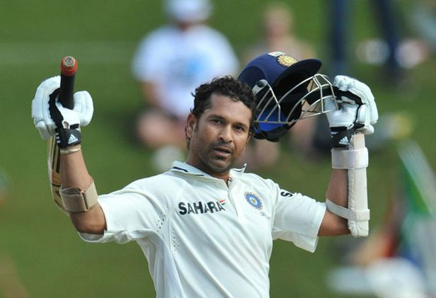 Sachin Tendulkar celebrates his 50th Test hundred and is an automatic pick in our Test XI of 2010