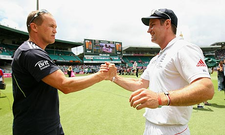 Andrew Strauss and Andy Flower - job done