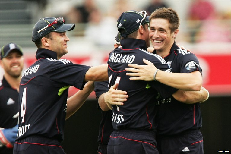 Chris Woakes had his cheshire cat smile wiped from his face by England's dismal batting at the Gabba