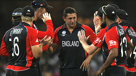 Tim Bresnan takes the plaudits after his five wickets against India