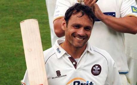 Mark Ramprakash - expect to see plenty of this last summer if his dodgy back holds up