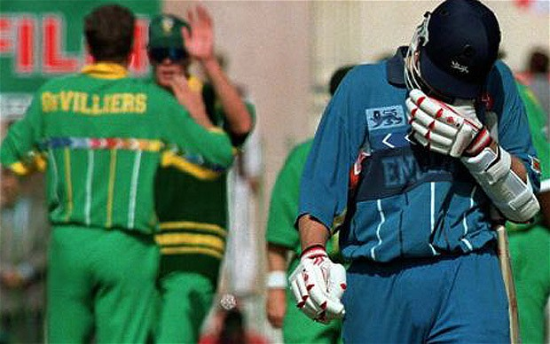 Neil Smith - even he couldn't believe that he got the job of England's pinch hitting opener at the 1996 World Cup