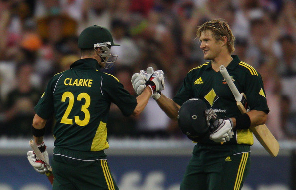 Michael Clarke and Shane Watson - Thanks Michael, that moisturiser you gave me worked a treat