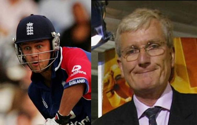 In the blue corner Jonathan Trott, and in the red corner Bob Willis