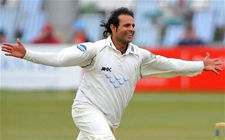 Naved-ul-Hasan - his ten wickets proved the difference between the sides at Hove