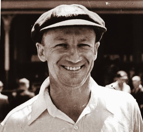 Donald Bradman - holder of the immortal batting average that has inspired the name of a damn fine cricket blog