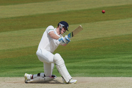 Ben Stokes smashes a six in his career best 185 against Lancashire