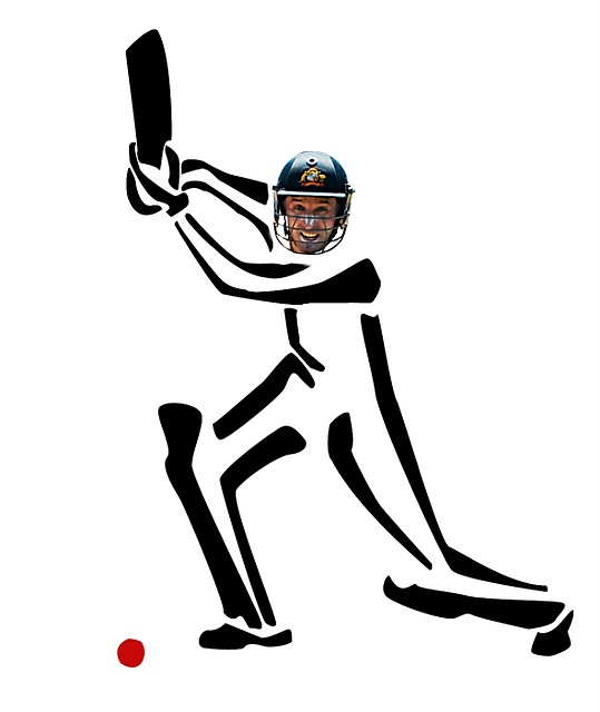 Michael Hussey as seen by Cricket=Action=Art