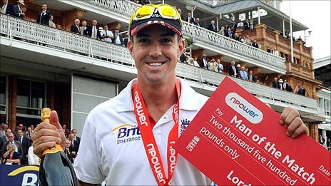 Kevin Pietersen was Man of the Match for his brilliant double hundred