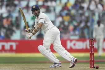 The imperious VVS Laxman moves towards another epic at Eden Gardens