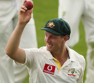 Oh brother - James Pattinson celebrates his second successive five wicket haul in only his 2nd Test