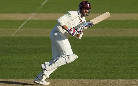 Marcus Trescothick got Somerset's season back on track at the Rose Bowl with a huge hundred