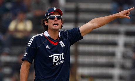 Alastair Cook - expect to see plenty of this when the name of England's new ODI captain is announced
