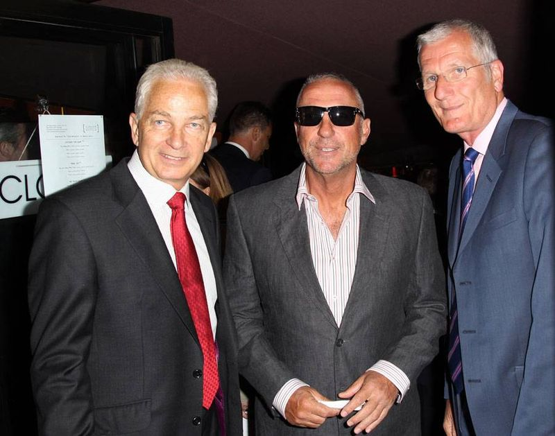 Ian Botham with David Gower and Bob Willis at the premiere of From the Ashes - but what could have been the reasons why Botham wore sunglasses
