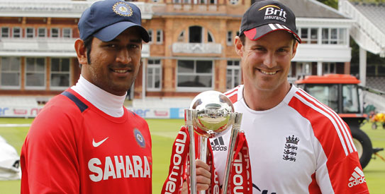 MS Dhoni and Andrew Strauss - the time for talking is nearly over