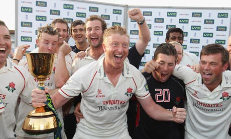 Lancashire are even more delighted to win Team of the year - just look at that face