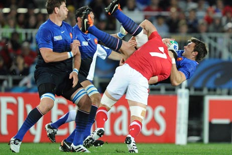Sam Warburton's tackle on Vincent Clerc was the pivotal moment of the Wales-France semi-final thanks to the hasty decision of referee Alain Rolland