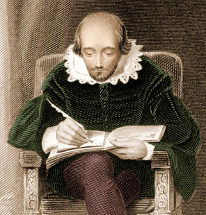 William Shakespeare scores the match between the Queen's XI and a team assembled by Sir Francis Drake