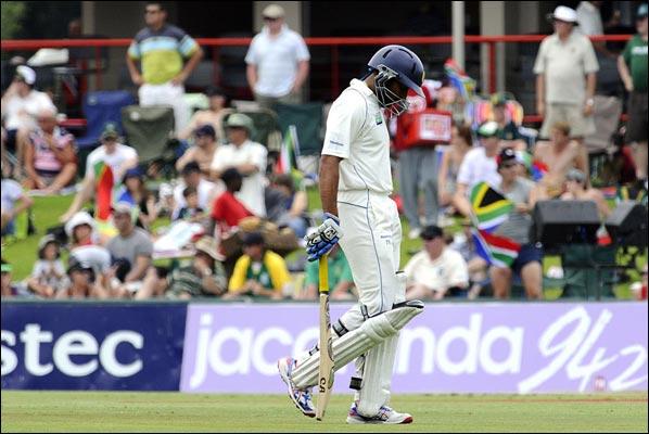 A familiar sad walk for Sri Lanka's batsmen at Centurion