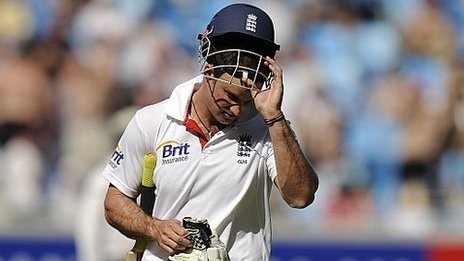 Off with their helmets - Andrew Strauss was just one England batsman to lose his head in Dubai