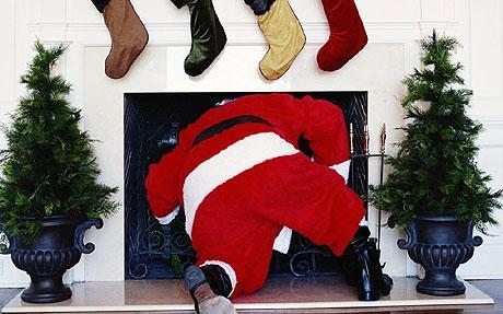 No it's not Shane watson dressed up as Santa