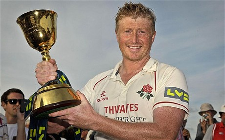 Lancashire's talismanic skipper Glen Chapple will be hoping to keep his hands on the County Championship trophy come the end of the 2012 season