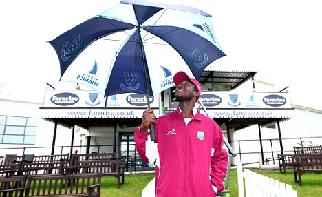 Darren Sammy prays for a very wet May and June