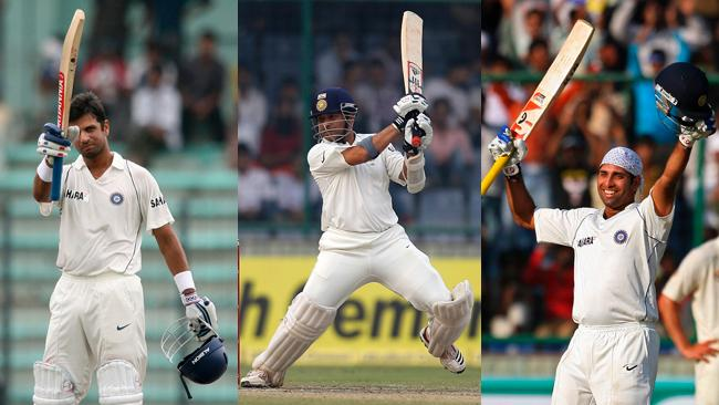 Dravid, Tendulkar and Laxman - India's big three
