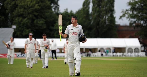 KP tucked into the Lancashire bowling at Guildford to score 234 off just 190 balls